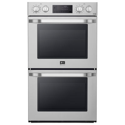 "LG 30"" Double Wall Oven with True Convection System"