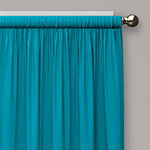 Eclipse Kids Microfiber Blackout Rod-Pocket Single Curtain Panel