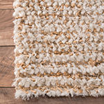 nuLoom Hand Hooked Casual Solid Remona Shag Rug