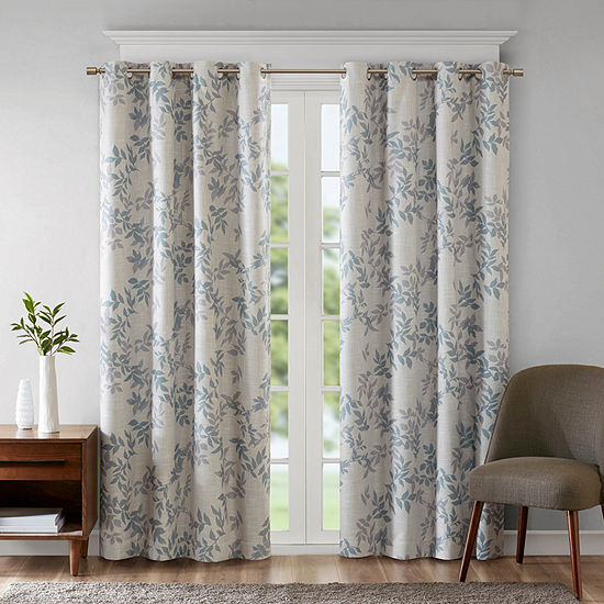 Sunsmart April Leaf Energy Saving Blackout Grommet-Top Curtain Panel