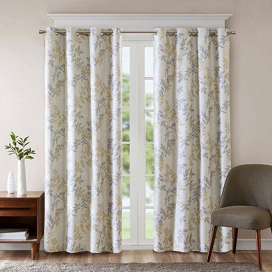 Sunsmart April Leaf Energy Saving Blackout Grommet-Top Curtain Panel