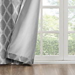 Sunsmart Kagen Ikat Geo Blackout Grommet-Top Curtain Panel