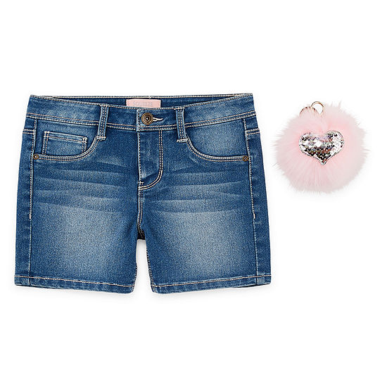 Blue Spice Girls Midi Short-Big Kid