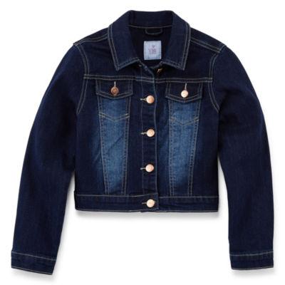 Ymi Girls Denim Jacket-Big Kid