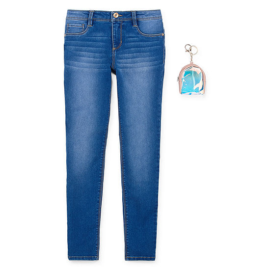 Blue Spice Mid Rise Skinny Fit Jean Big Kid Girls