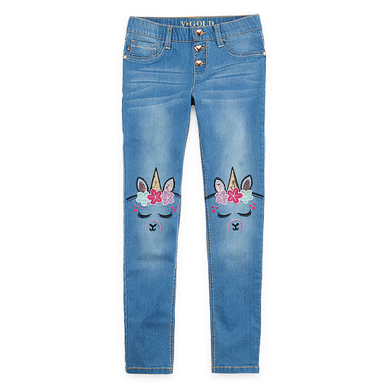 Vgold Girls Skinny Fit Jean Preschool / Big Kid