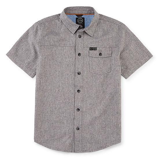 Wrangler Boys Short Sleeve Button-Front Shirt Big Kid