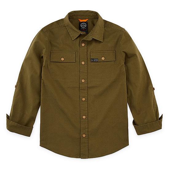 Wrangler Boys Long Sleeve Button-Front Shirt Big Kid