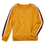 Arizona Womens Crew Neck Long Sleeve Sweatshirt Juniors Plus