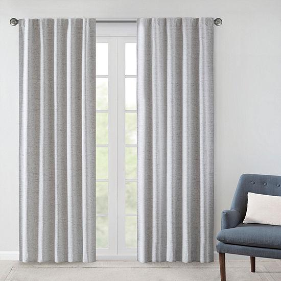 510 Design Brunet Energy Saving 100% Blackout Rod-Pocket/Back-Tab Curtain Panel
