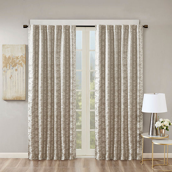 Sunsmart Odessa Jacquard Energy Saving 100% Blackout Rod-Pocket/Back-Tab Curtain Panel