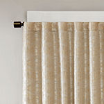 Sunsmart Odessa Jacquard Energy Saving 100% Blackout Back-Tab Single Curtain Panel