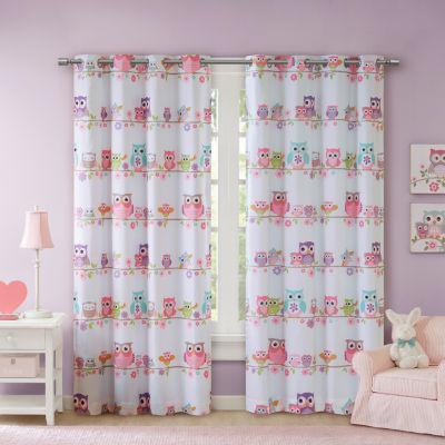 Mi Zone Kids Noctural Novelty Energy Saving Blackout Grommet-Top Single Curtain Panel