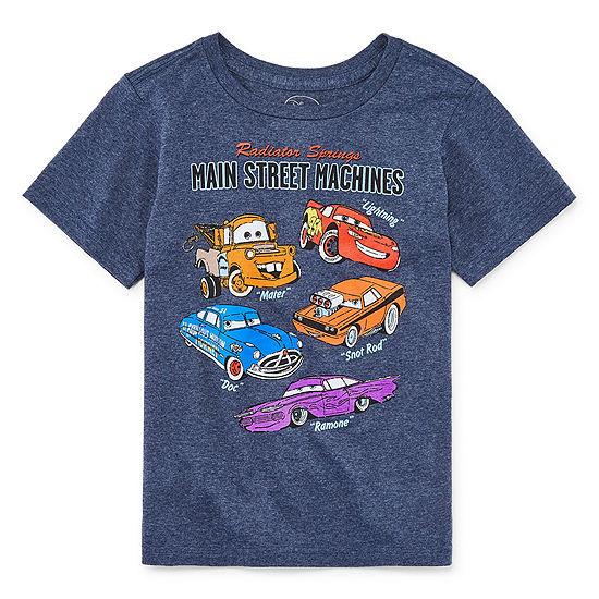 Disney Crew Neck Short Sleeve Cars T-Shirt Preschool / Big Kid Boys