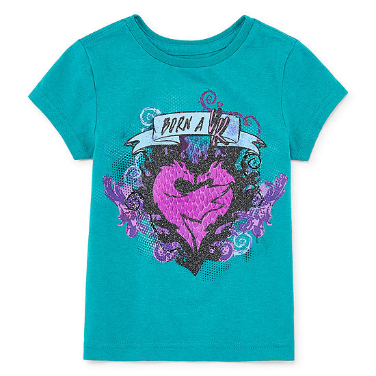 Disney Round Neck Short Sleeve Descendants Graphic T-Shirt Preschool / Big Kid Girls