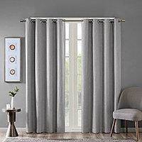 sunsmart arlie energy saving blackout grommet top single curtain panel
