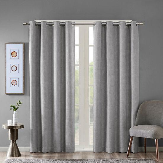 Sunsmart Arlie Energy Saving Blackout Grommet-Top Single Curtain Panel