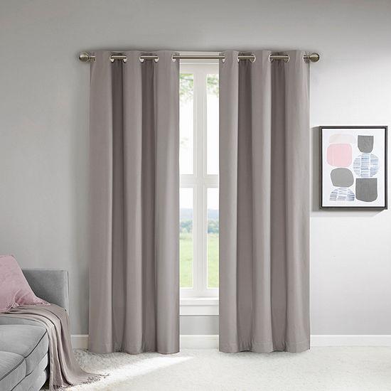 510 Design Sadie Energy Saving 100% Blackout Grommet-Top Single Curtain Panel