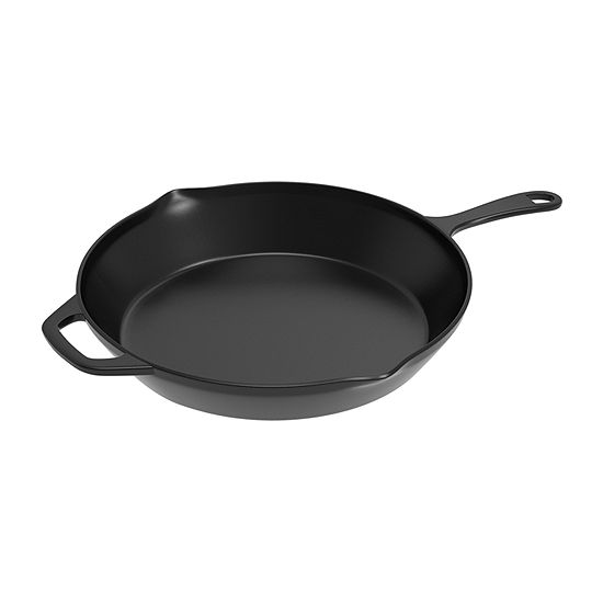 Home Complete 12 In. Pre-Seasoned Cast Iron Skillet