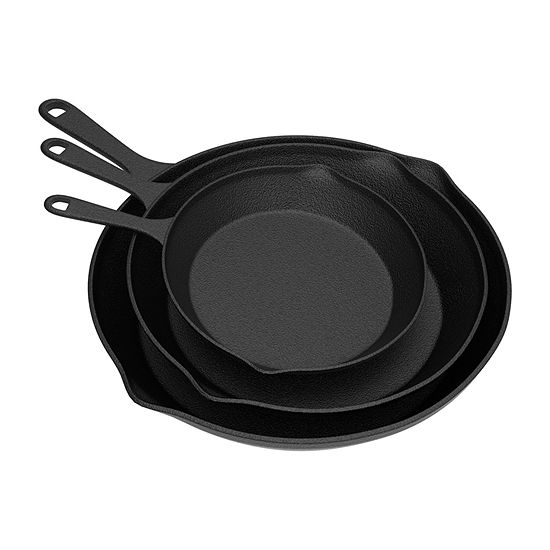 Home Complete Set Of 3-pc. Cast Iron Skillet