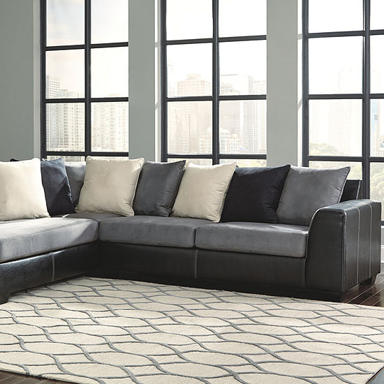 Signature Design By Ashley® Jacurso 2-Piece Chaise Sectional