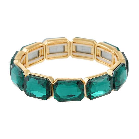 Monet Jewelry Green Stretch Bracelet