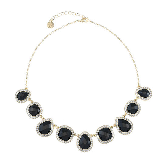 Monet Jewelry Black 17 Inch Cable Collar Necklace