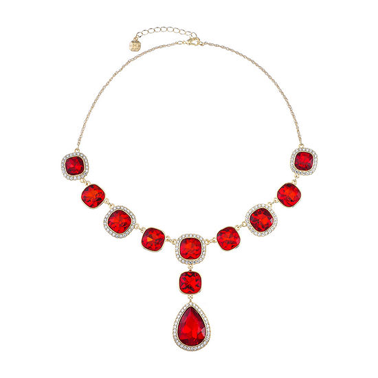 Monet Jewelry Red 18 Inch Rope Y Necklace