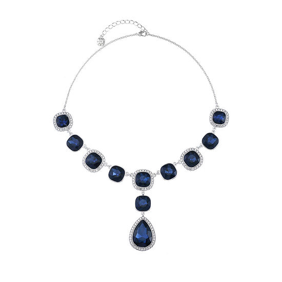 Monet Jewelry Blue 18 Inch Rope Y Necklace