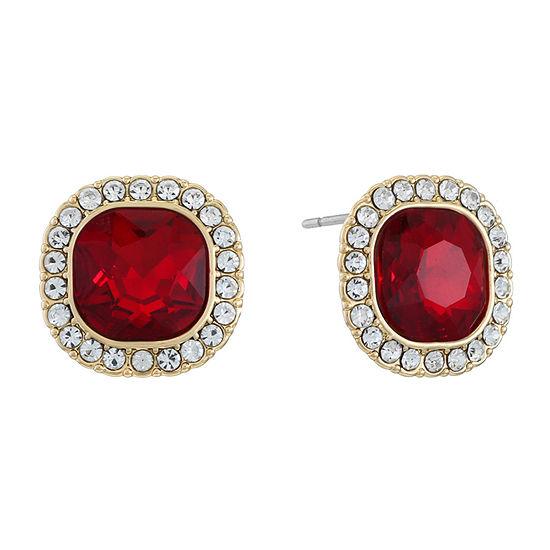 Monet Jewelry Red 13mm Stud Earrings