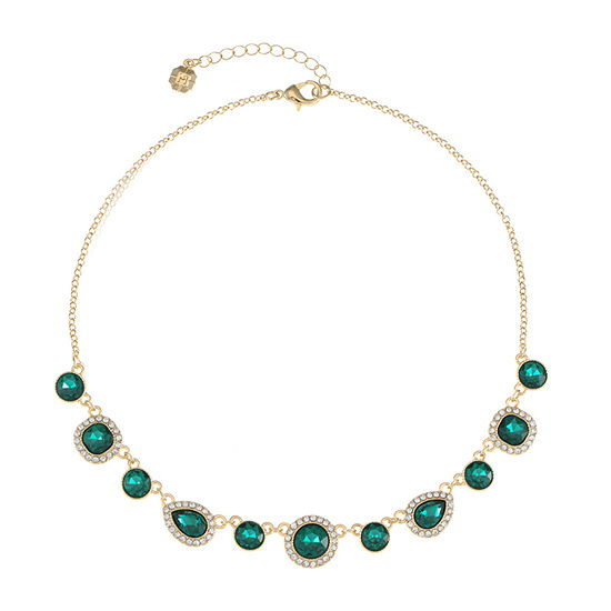 Monet Jewelry Green 17 Inch Cable Collar Necklace