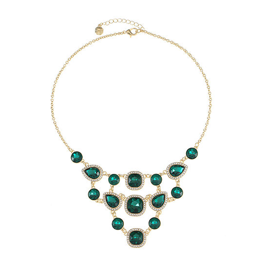 Monet Jewelry Green 18 Inch Cable Collar Necklace