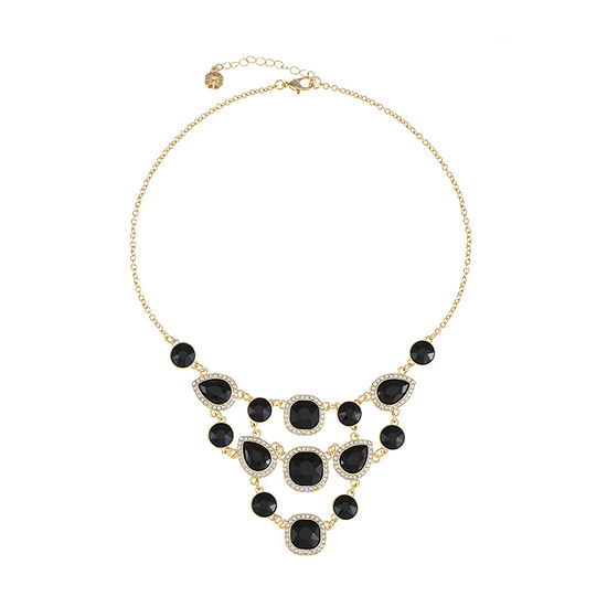 Monet Jewelry Black 18 Inch Cable Collar Necklace