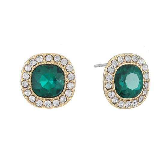 Monet Jewelry Simulated Green 14.3mm Stud Earrings
