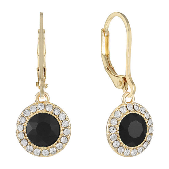 Monet Jewelry 1 Pair Black Drop Earrings