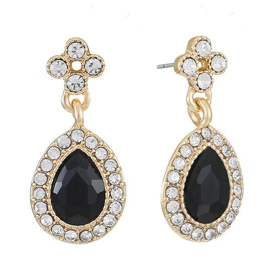 Monet Jewelry 1 Pair Black Drop Earrings