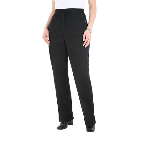 Chic Womens High Waisted Straight Pull-On Scooter Pants, 12 , Black