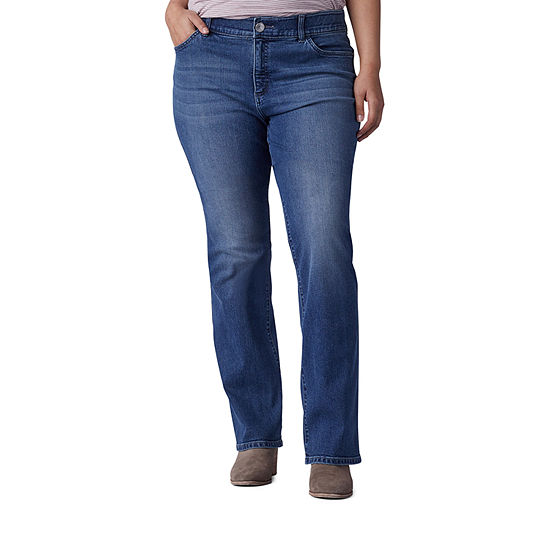 Lee-Plus Womens Mid Rise Regular Fit Bootcut Jean
