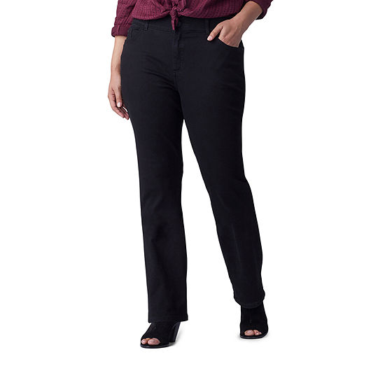 Lee-Plus Womens Mid Rise Regular Fit Bootcut Jean