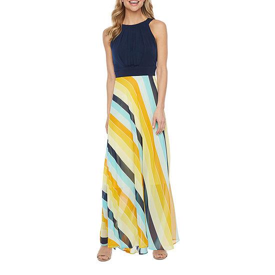 Studio 1 Sleeveless Striped Maxi Dress