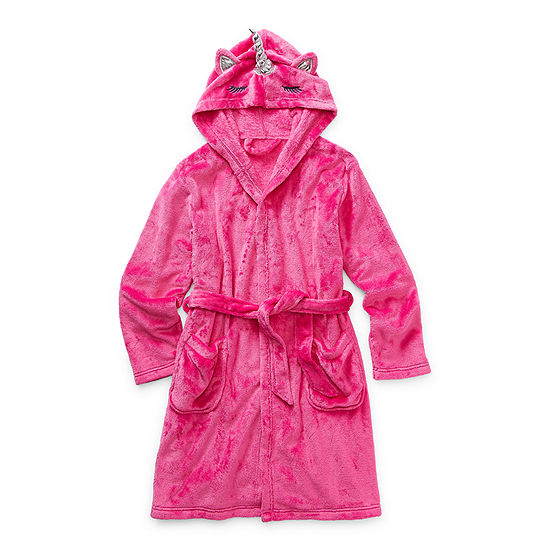 Arizona Little & Big Girls Fleece Long Sleeve Knee Length Robe