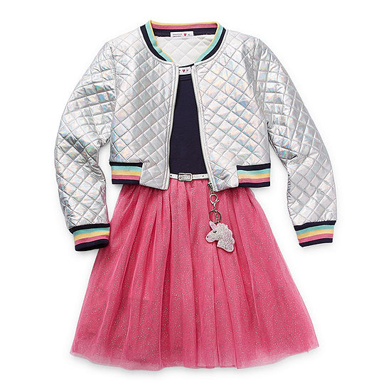 Knit Works Casual Dress Collection Big Girls Jacket Dress