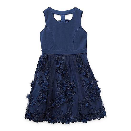 Trixxi Girl Big Girls Embellished Sleeveless A-Line Dress