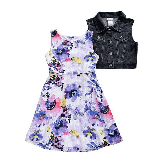 Emily West Big Girls Sleeveless 2-pc. Dress Set
