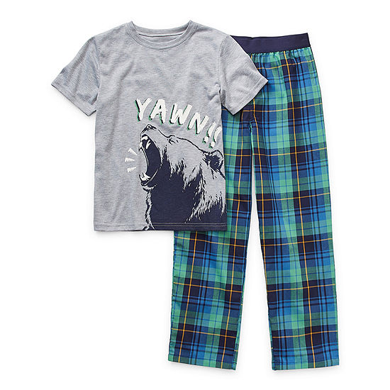 Arizona Little & Big Boys 2-pc. Pant Pajama Set