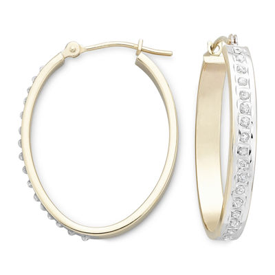 Diamond Fascination™ 14K Yellow Gold Hoop Earrings