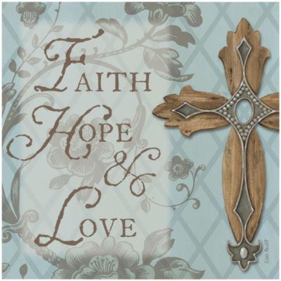"Thirstystone® Faith, Hope, Love 8"" Trivet"