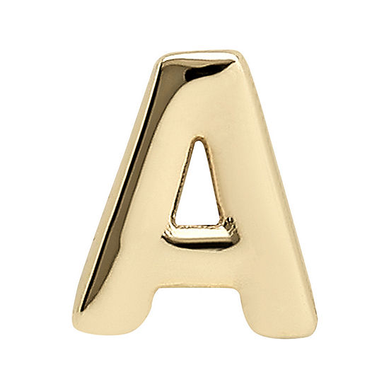 "Teeny Tiny® 10K Yellow Gold Initial ""A"" Single Stud Earring"