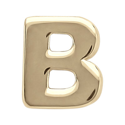 "Teeny Tiny® 10K Yellow Gold Initial ""B"" Single Stud Earring"