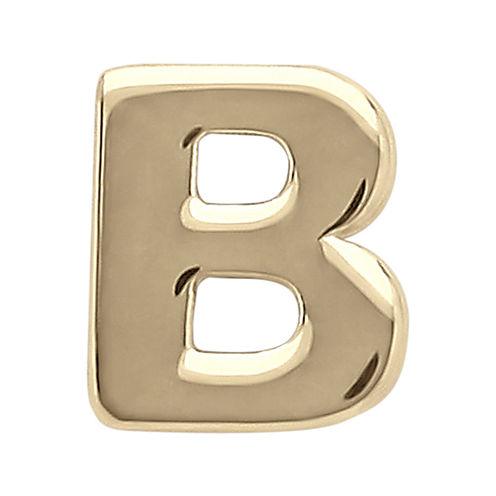 "Teeny Tiny® 10K Yellow Gold Initial ""B"" Single Stud Earring"